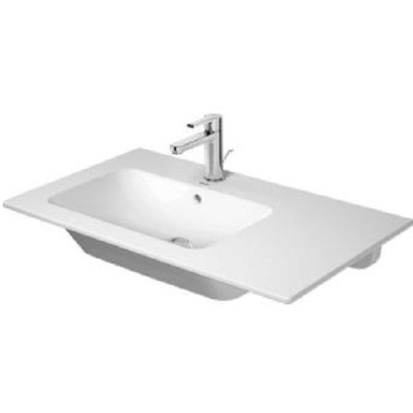DURAVIT ME by Starck 83 x 49 cm asymetrické umývadlo s prepadom, vanička vľavo, biele 2345830000