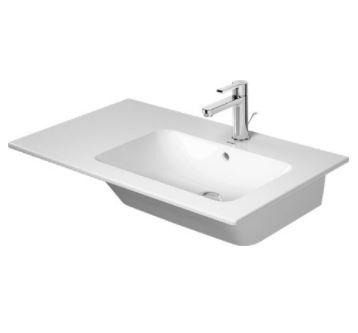 DURAVIT Me by Starck 83 x 49 cm asymetrické umývadlo s prepadom, vanička vpravo, biele 2346830000