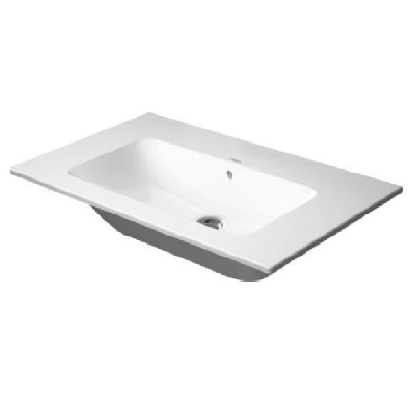 DURAVIT ME by Starck 83 x 49 cm nábytkové umývadlo bez otvoru pre batériu, biele s úpravou WonderGliss 23368300601