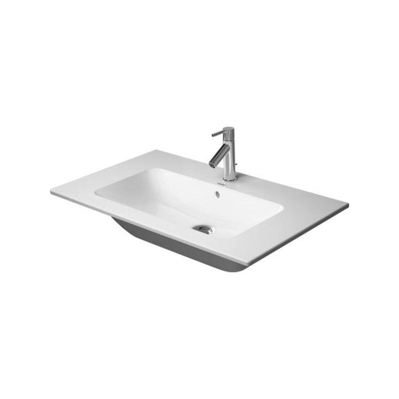 DURAVIT ME by Starck 83 x 49 cm nábytkové umývadlo s prepadom, biele s úpravou WonderGliss 23368300001