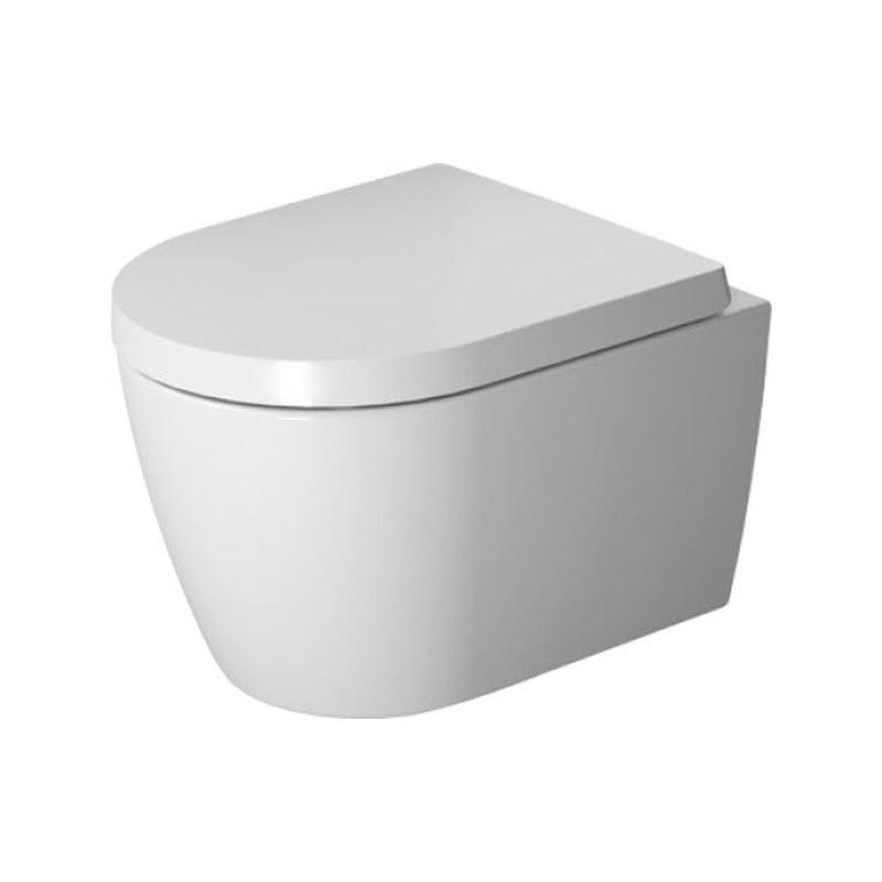 DURAVIT ME by Starck Compact 37 x 48 cm závesná WC misa Rimless, Durafix, biela s úpravou WonderGliss 25300900001