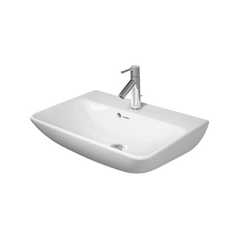 DURAVIT ME by Starck Compact umývadlo 60 x 40 cm s prepadom, biele s úpravou WonderGliss 23436000001
