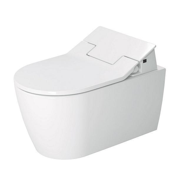 DURAVIT ME by Starck SensoWash 37 x 57 cm závasná WC misa Rimless, Durafix, biela s úpravou WonderGliss 25295900001