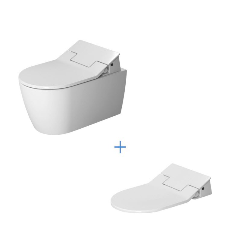 DURAVIT Me by Starck SET 2v1 WC misa Rimless závesná so sedátkom 631000002004300