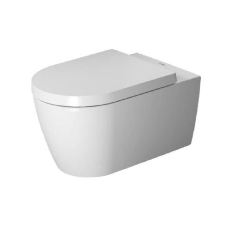 DURAVIT ME by Starck set 2v1 závesná WC misa Rimless ( 25290900001) s WC sedátkom SoftClose a úpravou WonderGliss 45290900A11