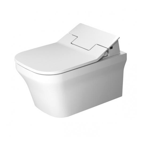 DURAVIT P3 COMFORTS SENSOWASH BIDETOVÉ SEDÁTKO SLIM 373 X 539 MM 611400002304300 s WC misou s Rimless biela Hygiene Glaze