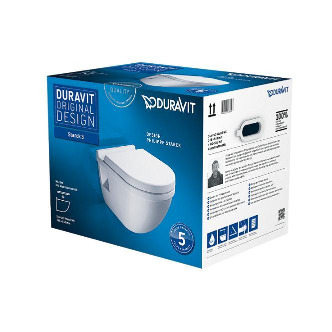 DURAVIT Starck 3 WC misa závesná so sedátkom 42000900A1