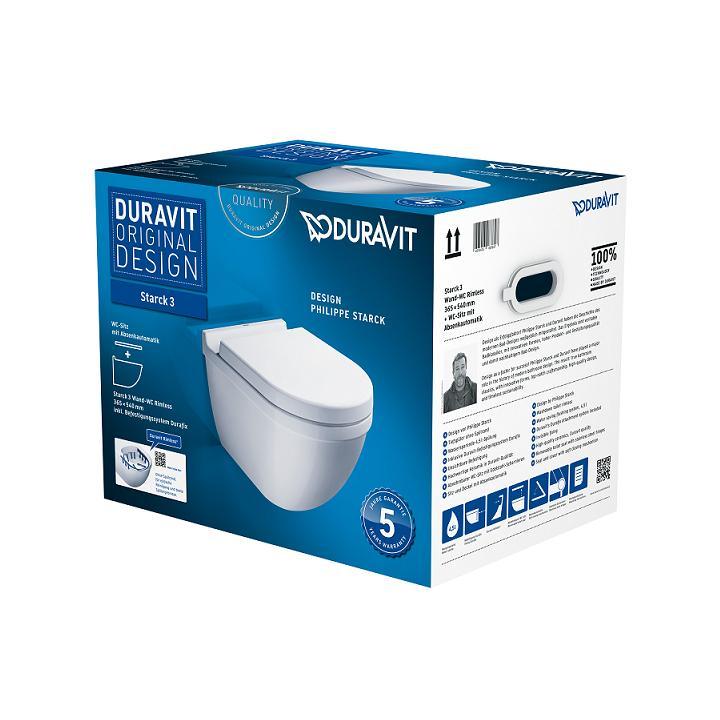 DURAVIT Starck 3 WC misa závesná so sedátkom SoftClose biele 45270900A1