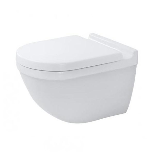 DURAVIT Starck 3 - Závesné WC, Rimless, s HygieneGlaze, biela 2527092000
