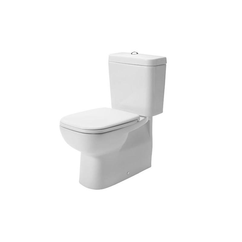 Duravit WC SET 3v1 D-CODE misa WC kombi s glazúrou Hygiene Glaze, odpad VARIO (21180920002) s nádržkou a WC sedátkom 0067390000 SoftClose, 399138