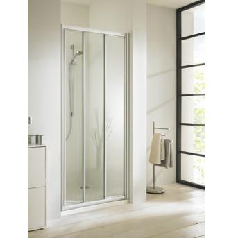 dvere sprchové atyp CLASSICS ELEGANCE posuvné s pevným segmentom str. lesklá číre sklo AP