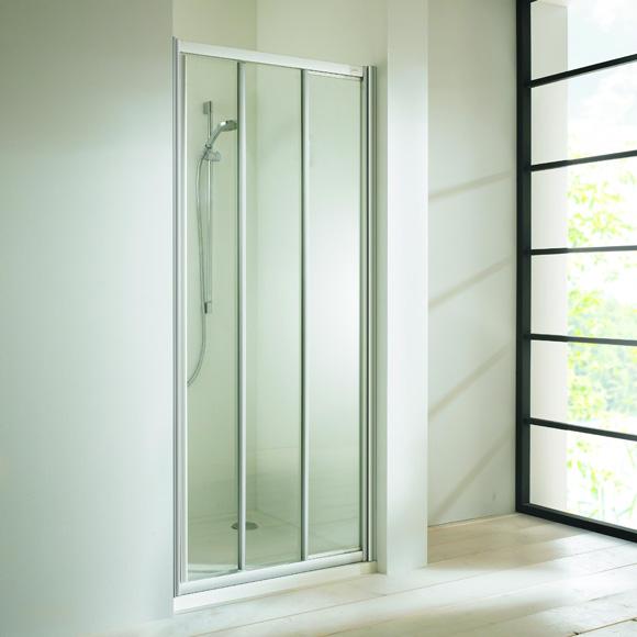 dvere sprchové CLASSICS ELEGANCE GT 1200 posuvné s pevným segmentom str.lesklá číre sklo AP