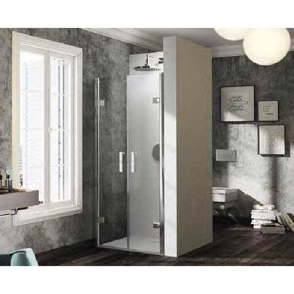 dvere sprchové HÜPPE SOLVA Pure PTN 900 lietacie do niky str. lesklá číre sklo AP