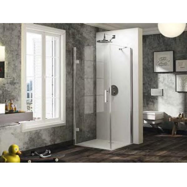 dvere sprchové HÜPPE SOLVA Pure ST 800 krídlové pre bočnú stenu upev vľavo str. lesklá číre sklo AP