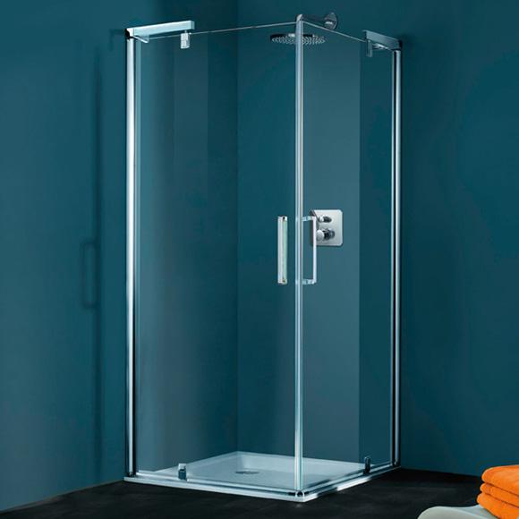 dvere sprchové pivotové HÜPPE REFRESH 1000/1000 rohový vstup str. lesklá číre sklo AP