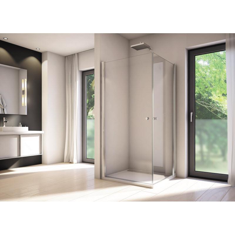 dvere sprchové SOLINO 90 1-krídl. aluchróm číre sklo AQP