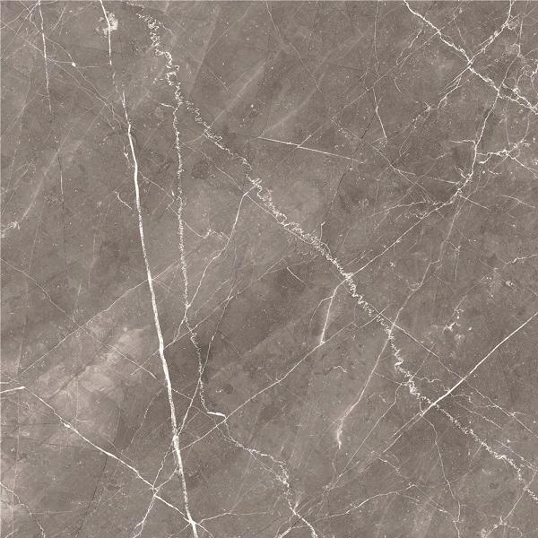 ECOCERAMIC Bolonia leštená dlažba 60 x 60cm v lesklom šedom mramorovom vzhľade , rektifikovaná