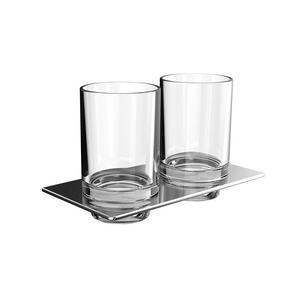 EMCO Art držiak s dvomi pohármi  chróm sklo  162500100