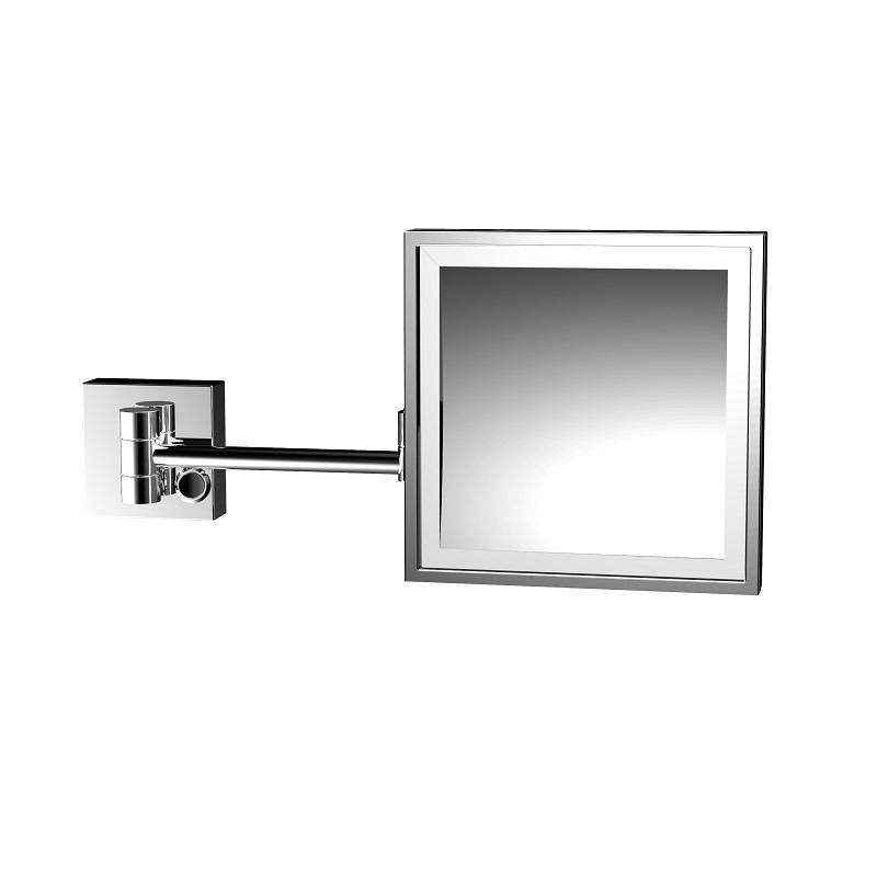 EMCO Art kozmetické nástenné zrkadlo štorcové s LED osvetlením chróm 109500119