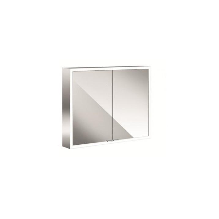 EMCO Asis Prime skrinka zrkadlová 80 cm biele sklo 949705162
