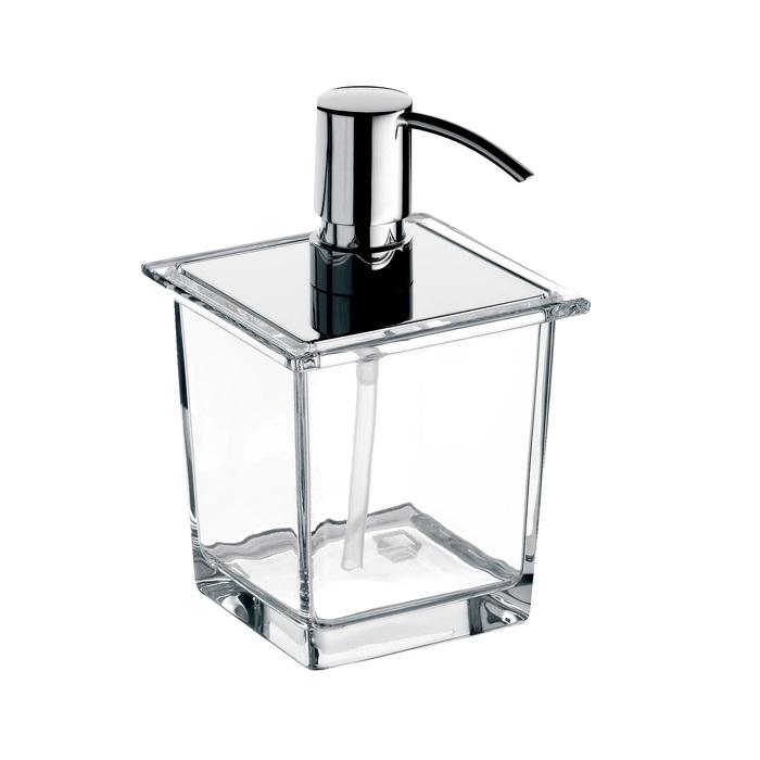 EMCO Liaison dávkovač mydla do koľajnice  365 ml hranatý sklo chróm 182100106