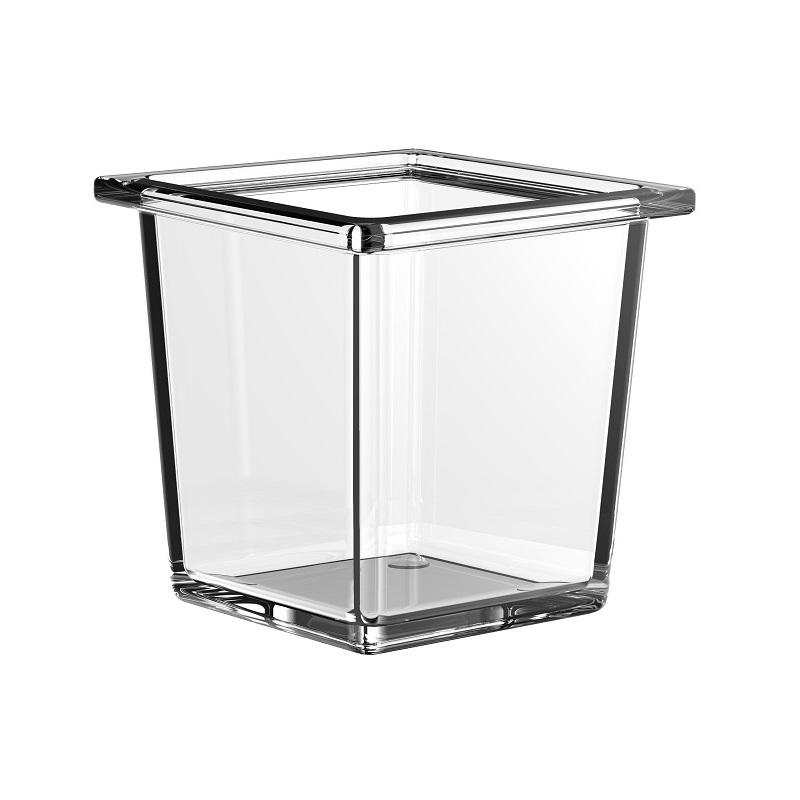 EMCO Liaison pohárik do koľajnice 97,5 x 97,5 x 97 mm sklo 186600002