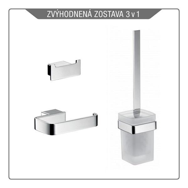 EMCO LOFT set držiak papiera bez krytu, wc kefa , dvojháčik 059800102