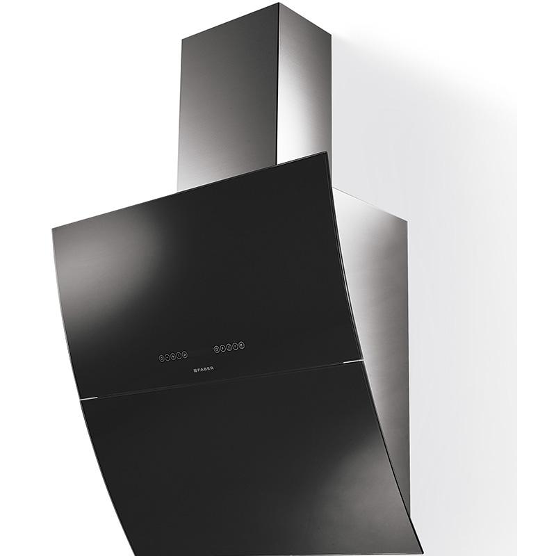 FABER MIRROR X/V A 90 čierne sklo