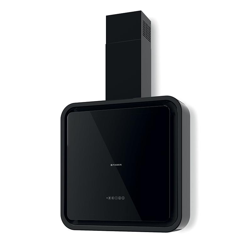 FABER PYANA NAUTILUS BLACK NICKEL/BLACK GLASS A70 odsávač komínový