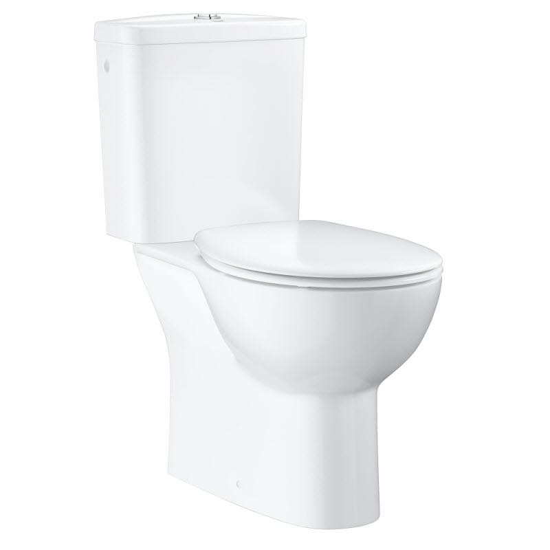 GROHE Bau Ceramic WC kombi Rimless spodný odtok set 3v1 biele 39346000