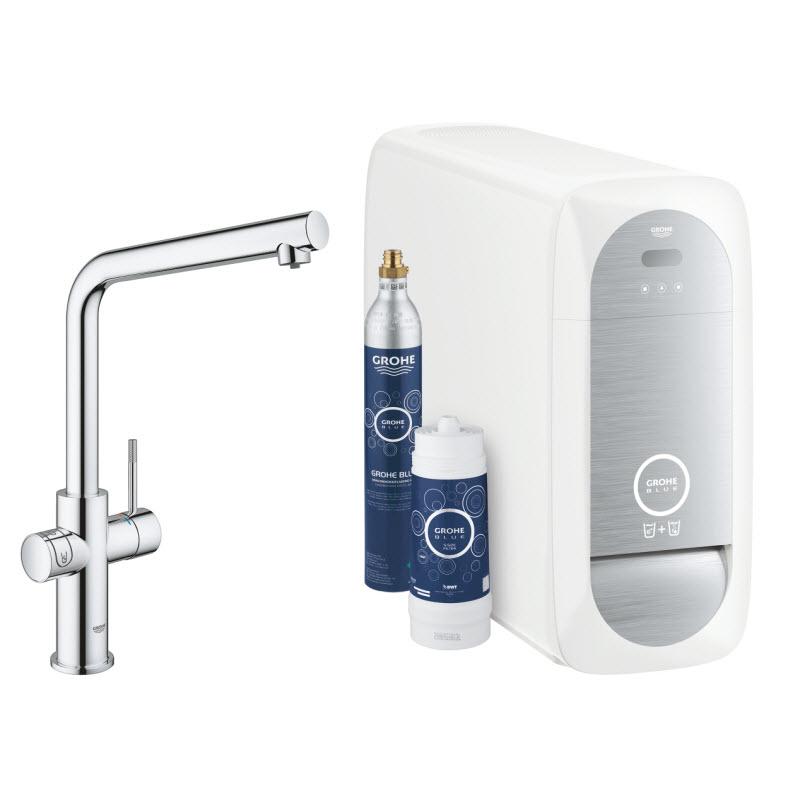 GROHE BLUE Home drezová batéria s funkciou filtrovania a chladiacim zariadením - štartovacia sada 31454000