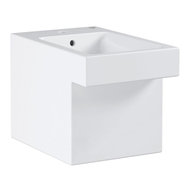 GROHE Cube Ceramic stojaci bidet 38 x 56,5 cm,skryté pripojenie odtoku biela PureGuard, 3948700H