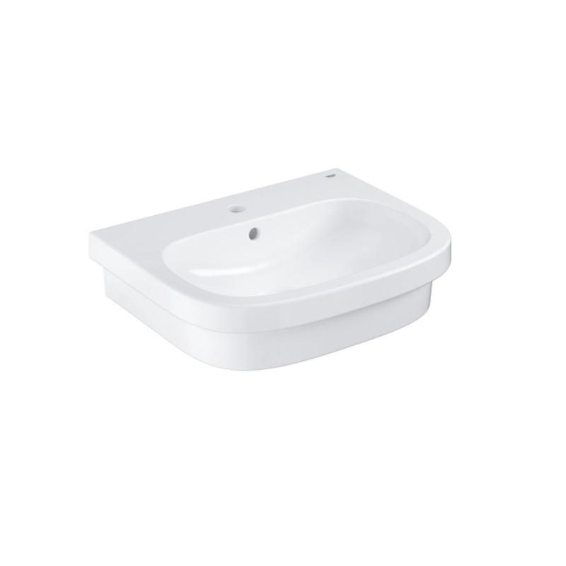 GROHE Euro Ceramic umývadlo na dosku 60 s prepadom  PureGuard 3933700H