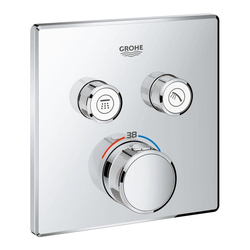 GROHE GROHTERM SmartControl termostatická sprchová batéria pod omietku na 2 odberné miesta 29124000