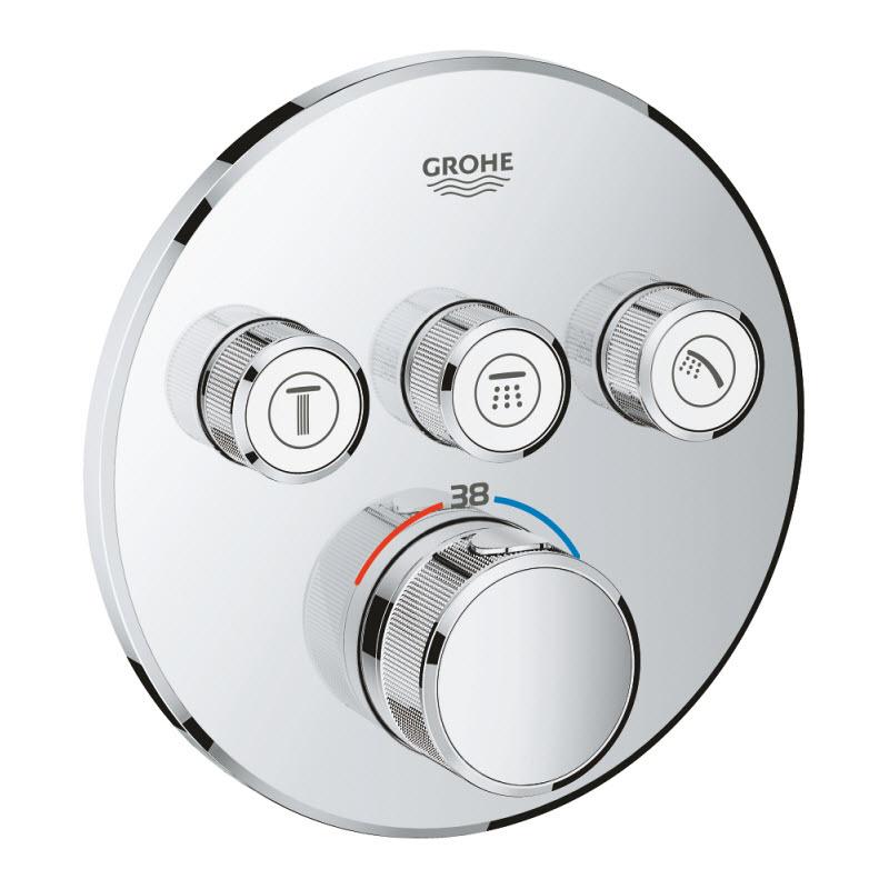 GROHE GROHTERM SmartControl termostatická sprchová batéria pod omietku na 3 odberné miesta 29121000
