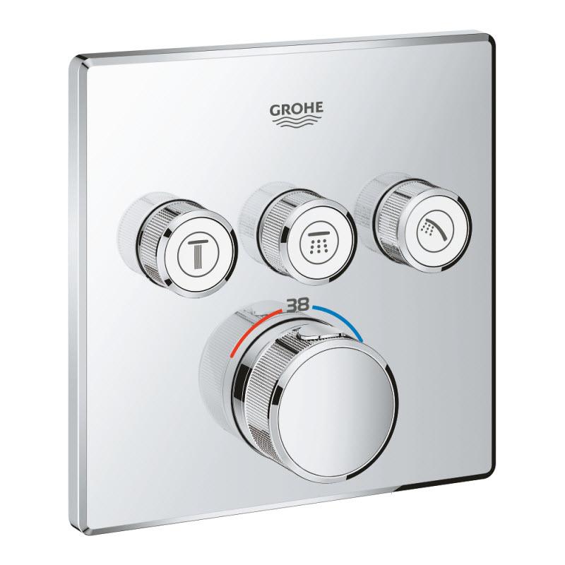 GROHE GROHTERM SmartControl termostatická sprchová batéria pod omietku na 3 odberné miesta 29126000