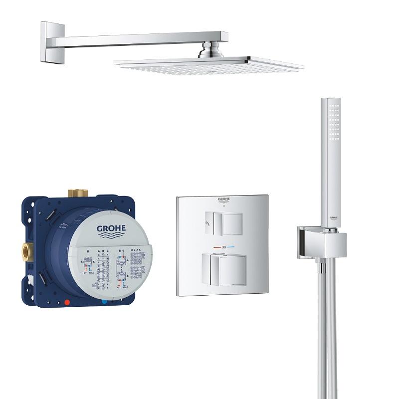 GROHE Grohtherm Cube sprchový set so sprchou Rainshower Allure 230 s termostatom pod omietku chróm 34741000