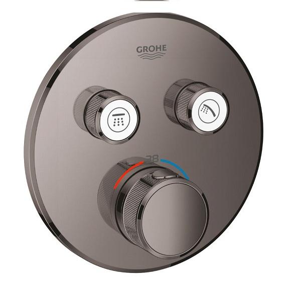 GROHE Grohtherm SmartControl termostatická sprchová batéria pre 2 odberné miesta, vrchná časť, Hard Graphite 29119A00