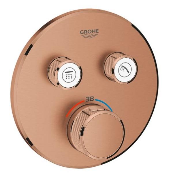 GROHE Grohtherm SmartControl termostatická sprchová batéria pre 2 odberné miesta, vrchná časť, kartáčovaný Warm Sunset 29119DL0