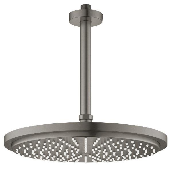 Grohe RAINSHOWER Cosmopolitan 310 1jet EcoJoy stropná hlavová sprcha s ramenom 142 mm, povrch kartáčovaný Hard Graphite 26067AL0