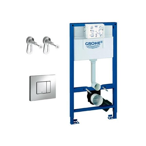 GROHE Rapid SL set 3v1 pre WC nádrž+kotvenie + tlačítko Cosmo chróm, 38772001