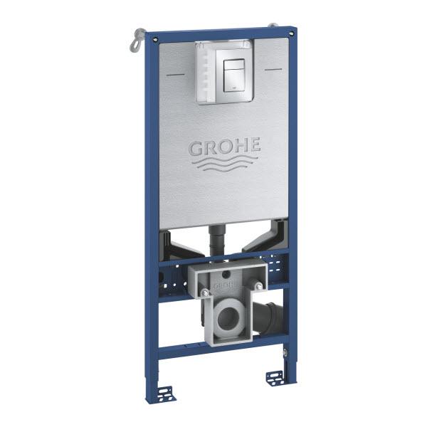 GROHE Rapid SLX - set 3 v1 duofix WC Rapid SLX pre závesné WC + kotvenie+ tlačítko, chróm 39603000