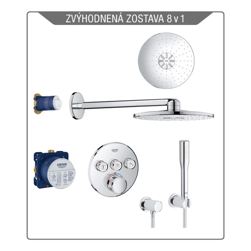 GROHE set 7v1 Grohtherm SmartControl sprchový systém s termostatom pod omietku a sprchou Rainshower 310 SmartActiv 2-poloh.  chróm 34705000