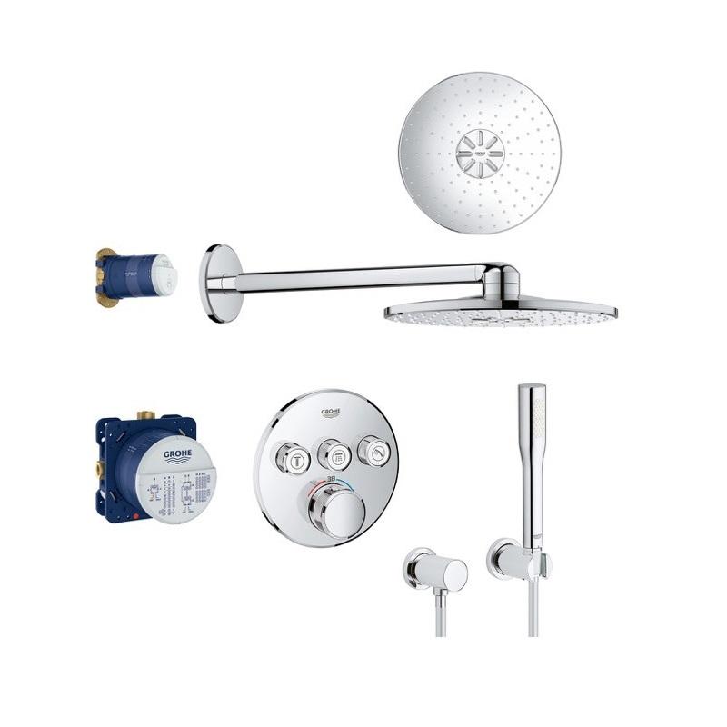 GROHE set 8v1 Grohtherm SmartControl sprchový systém s termostatom pod omietku, chróm 34705000