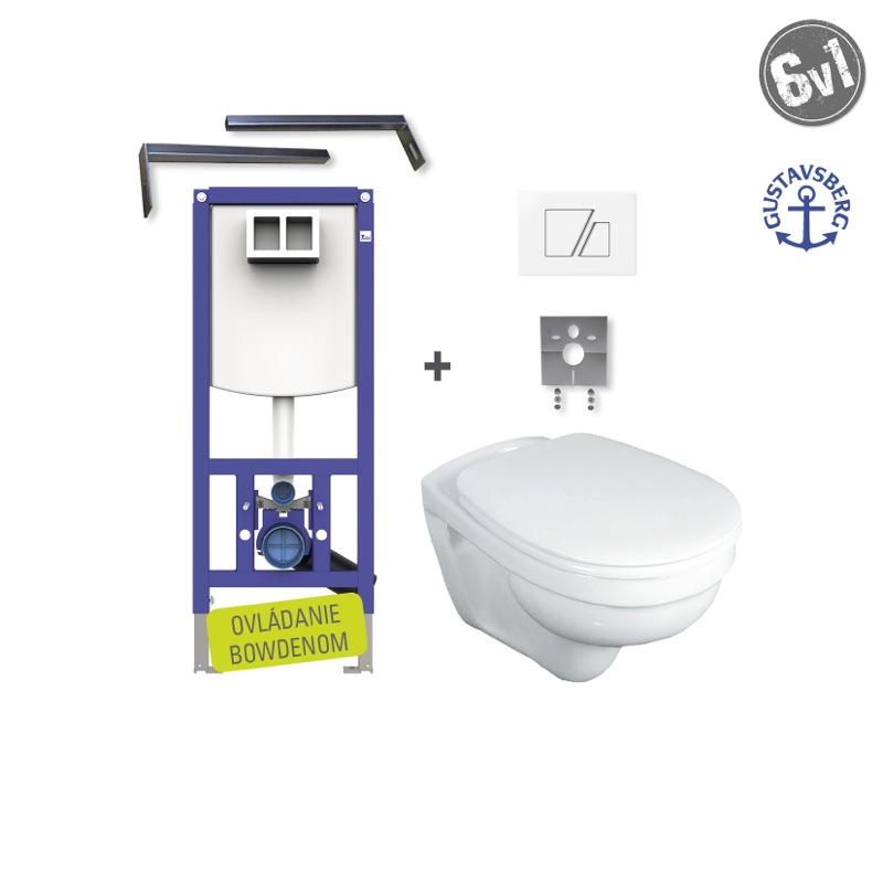 GUSTAVSBERG Saval SET WC 6v1 do bytového jadra S707biele