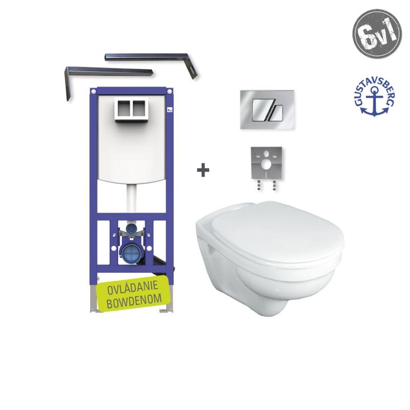 GUSTAVSBERG Saval SET WC 6v1 do bytového jadra S707chróm