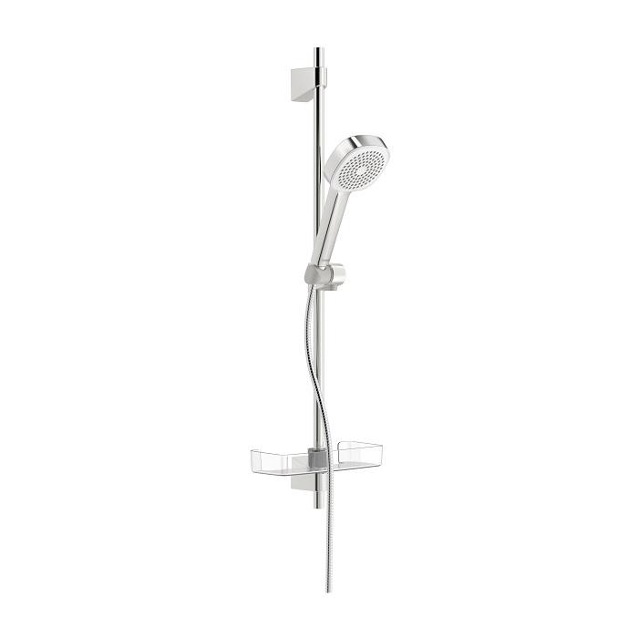 HANSA BASICJET Style sprchový set 72cm s 1-polohovou sprchou, chróm a poličkou 44770111