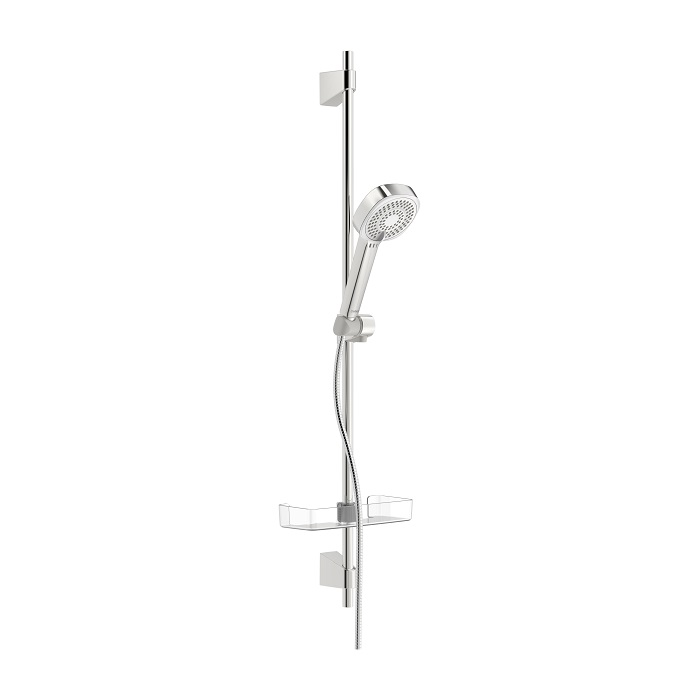 HANSA BASICJET Style sprchový set 72cm s 3-polohovou sprchou, chróm a poličkou 44770131