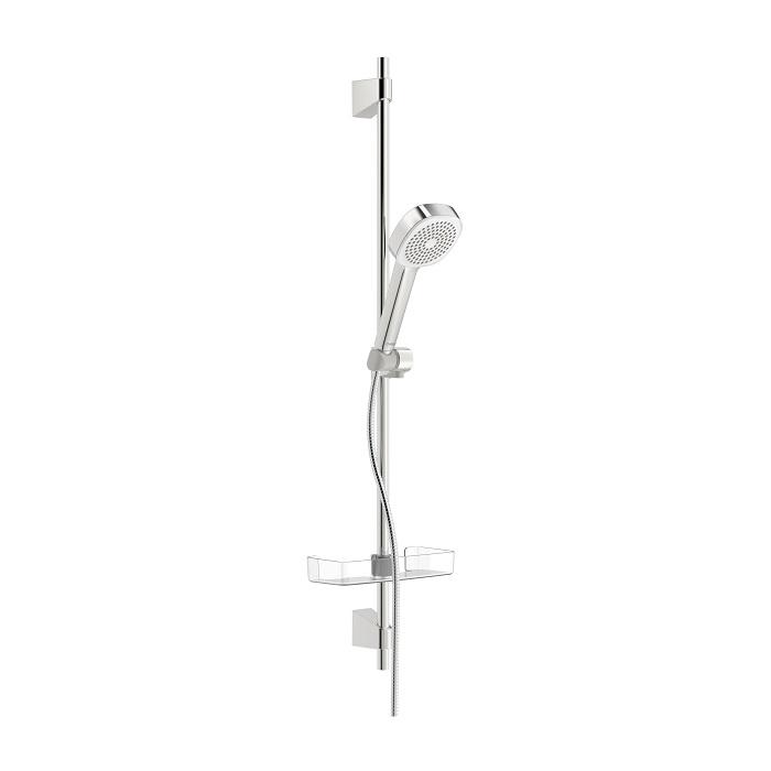 HANSA BASICJET Style sprchový set 92cm s 1-polohovou sprchou, chróm a poličkou 44790111