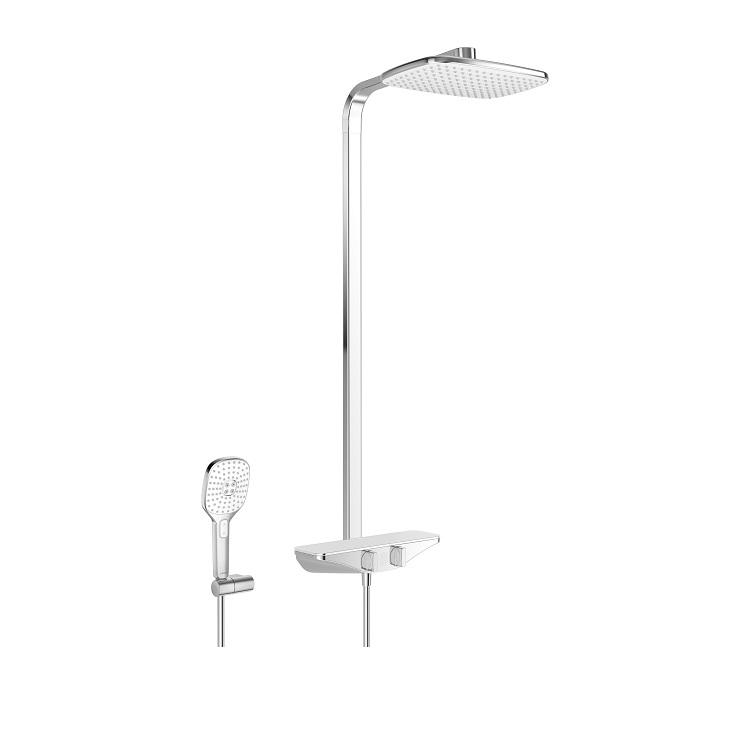 Hansa EMOTION - sprchový systém s hlavovou sprchou a termostatom chróm/biela  5865017182
